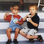 boys eating ice cream